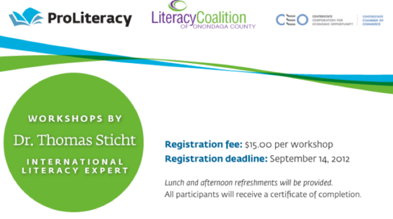 Workshops by Dr. Thomas Sticht - International Literacy Expert